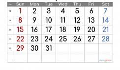 Free Printable May 2022 Calendar