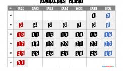 Free Calendar October 2021 Printable