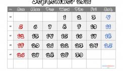 Free Calendar September 2021 Printable
