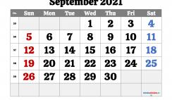 Printable September 2021 Calendar PDF
