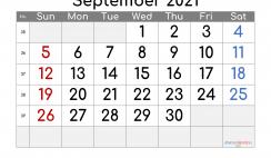 Free Editable September 2021 Calendar