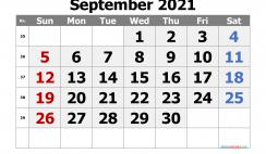 Editable September 2021 Calendar