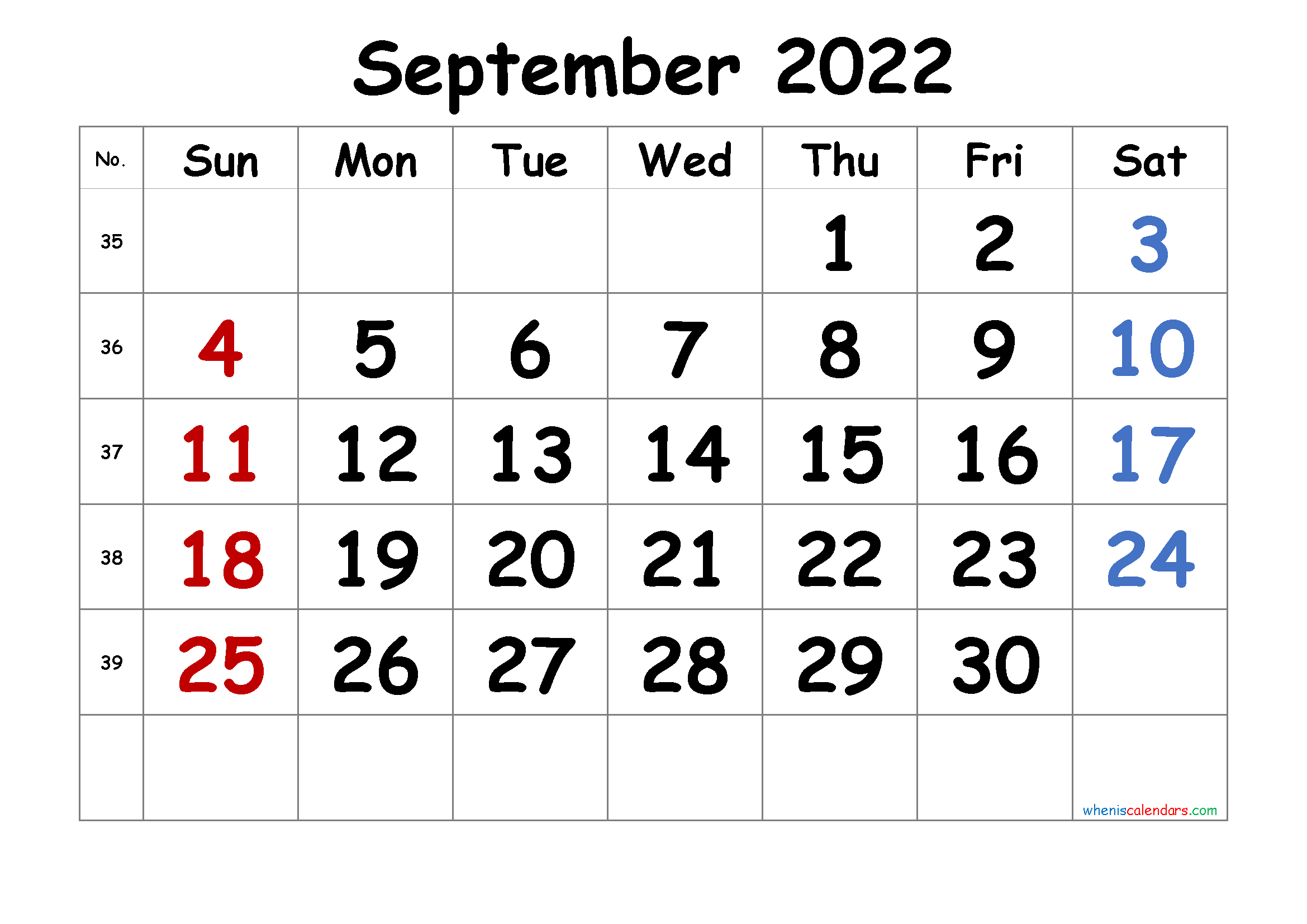Free September 2022 Calendar.Free September 2022 Calendar Printable 1 Month 1 Page 2021 Free Printable