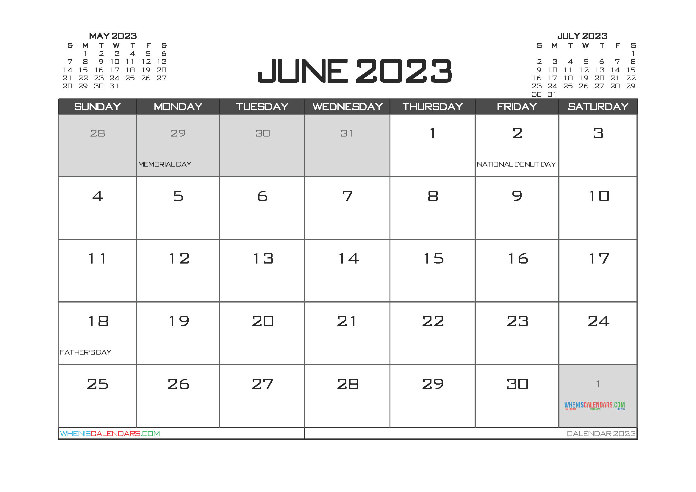 Editable Printable June 2023 Calendar