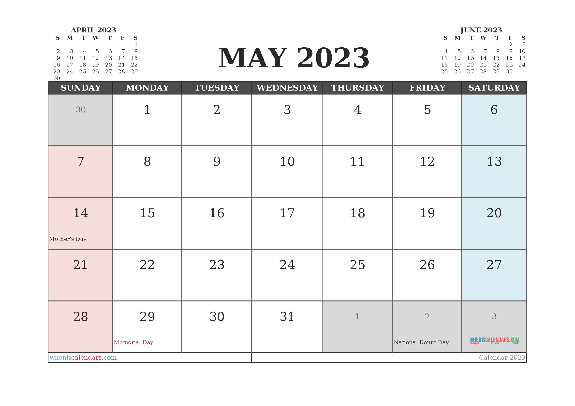Editable Printable May 2023 Calendar