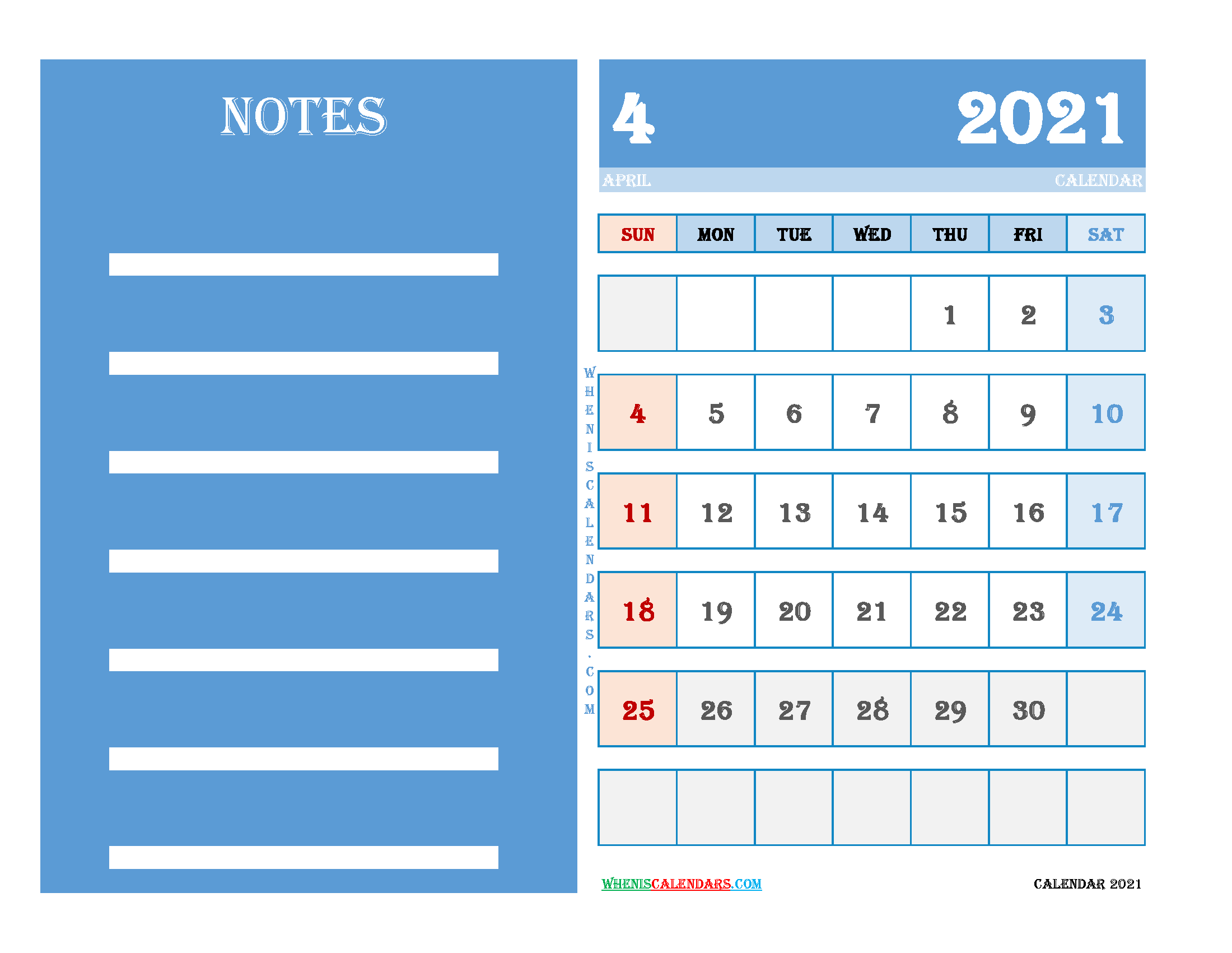Free September 2020 Printable Calendar