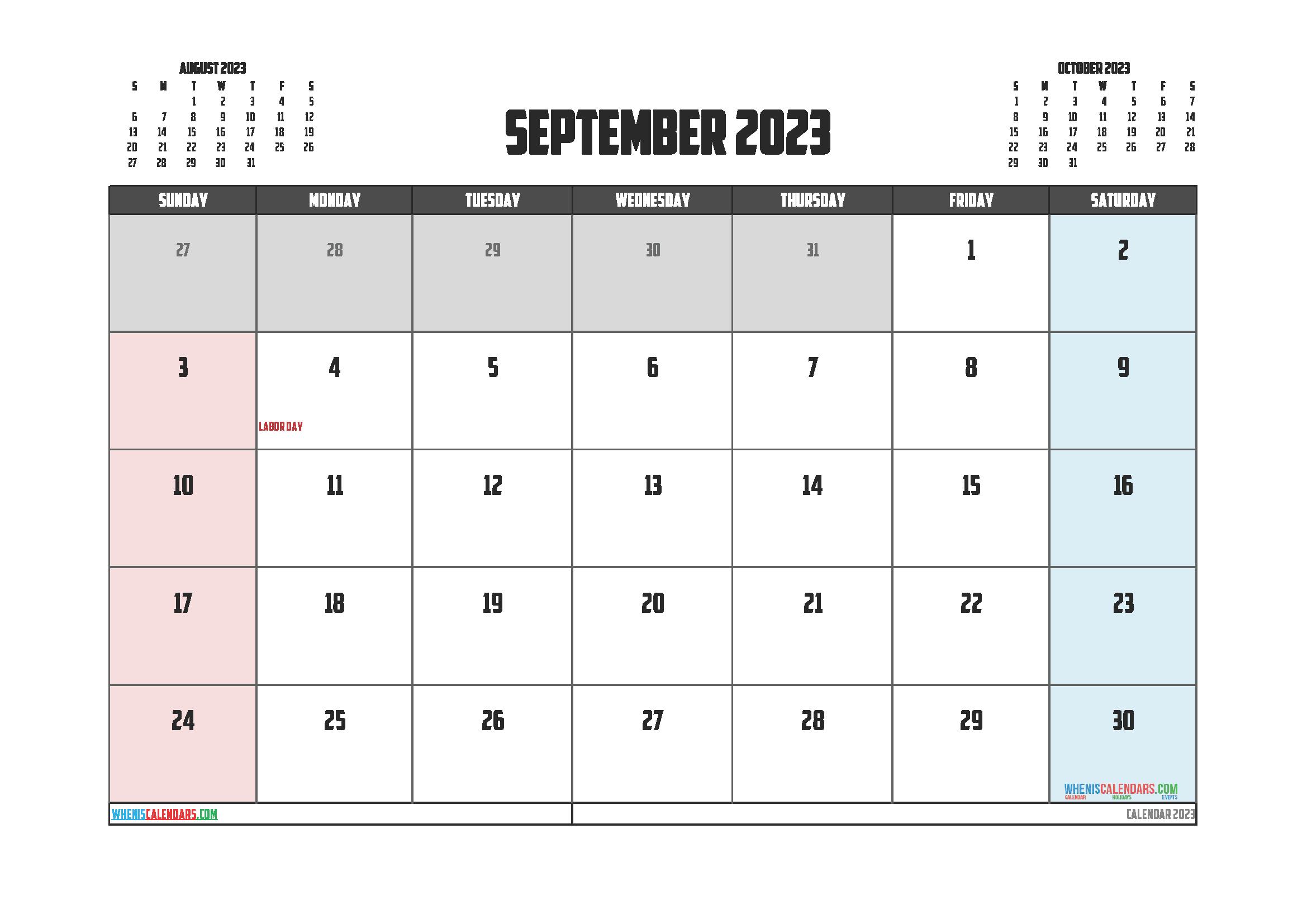 Editable Printable September 2023 Calendar