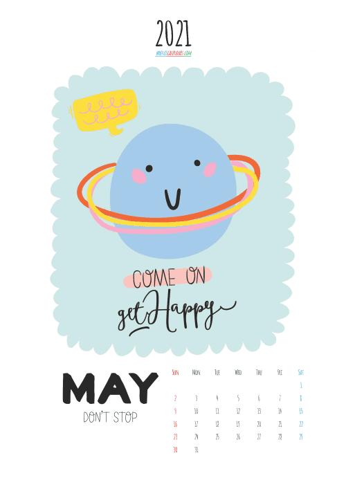 free printable may 2021 calendar cute. awesome free printable 2021 calendar for kids