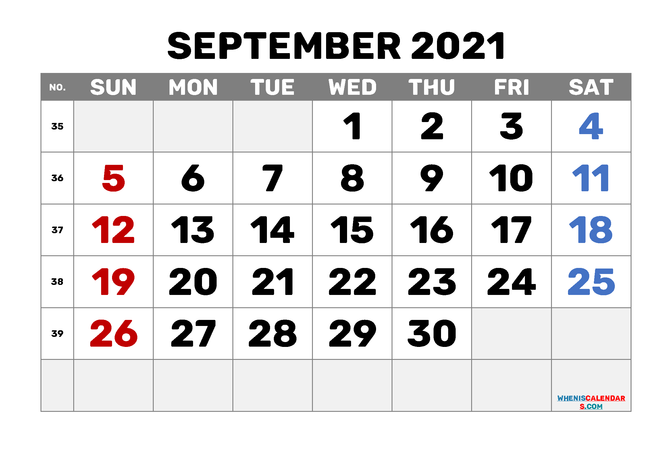 free printable september 2021 calendar with holidays